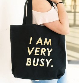 Canvas Tote- I Am Very Busy