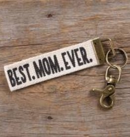 Canvas Key Fob Best Mom Ever