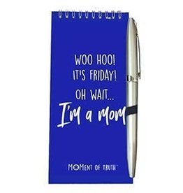 Notepad and Pen Set - Friday Mom Royal