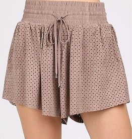 One Less Problem Shorts- Taupe