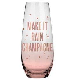 4653d3a7b Rain Champagne 10oz Stemless Champagne Glass