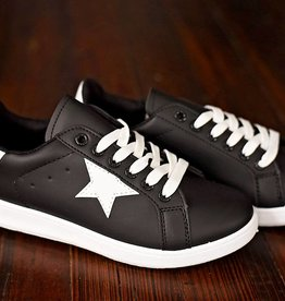 Panther Lace Up Sneakers - Black/White