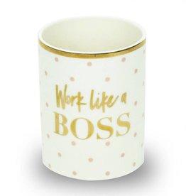 Like A Boss Ceramic Pencil Cup
