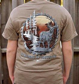 SUS Metal Saw Deer Scene-SS-Brown Savannah