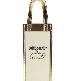 Going Steady Canvas Wine Bag