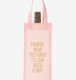 Live With Boy Canvas Wine Bag