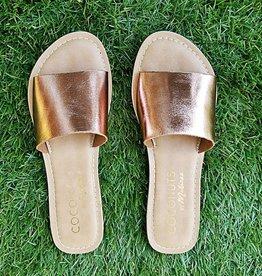 MATISSE Cabana Slide Sandal - Rose Gold