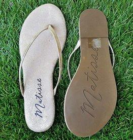 caf3a988ccc MATISSE Malibu Thong Sandal - Gold Frost
