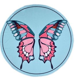 Circle Photo Towels- Butterfly