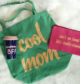 Canvas Cosmetic Bag- Motherhood