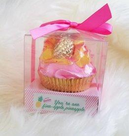 Large Cupcake Bath Bomb- You're One Fine-Apple