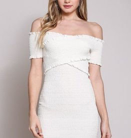 Slow Hands  Dress- Off White