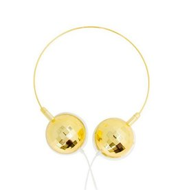 Disco Ball Headphones Gold