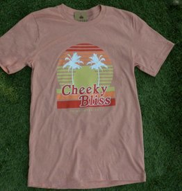 Cheeky Bliss Sunset Tee - Heather Sunset
