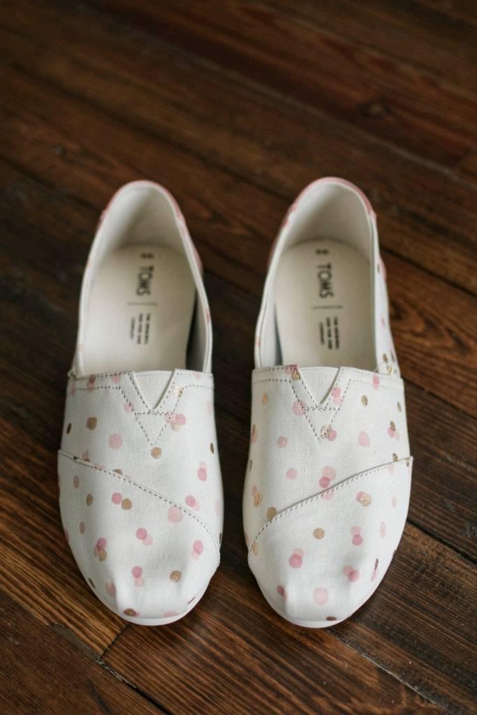 7086ce2cb26 Classic Women Shoes Toms - Pale Blush Metallic Party Dots - Cheeky Bliss