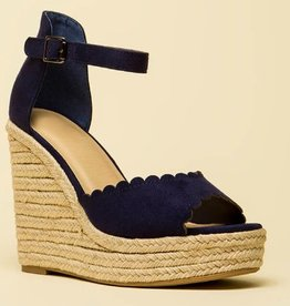 Sherry Wedges - Navy