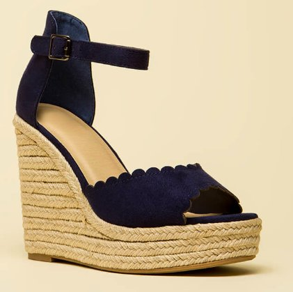 a60c6113d5d Sherry Wedges - Navy - Cheeky Bliss