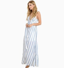 Not Just A Pretty Face Maxi Dress - Venetian Blue