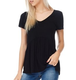 All Ruffled Up Blouse - Black