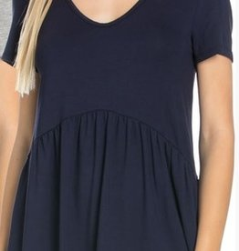 All Ruffled Up Blouse - Navy