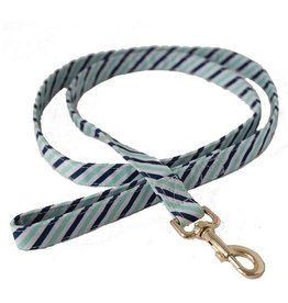 Dog Leash- Blue Diagonal Stripe Large