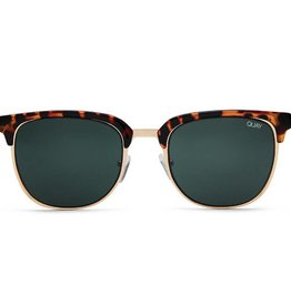 QUAY Flint Sunglasses- Tort/Green Lens