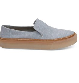 TOMS Women's Sunset Slip-ons- Mist Chambray