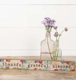 Skinny Sign- Thankful