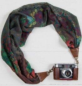Camera Strap - Olive Aqua Black