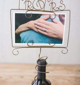 Wire Photo Holder- Mr. & Mrs.