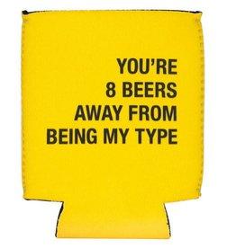 8 Beers Away Koozie - Yellow