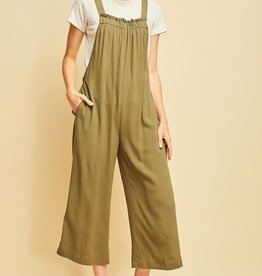 Planning Ahead Jumpsuit- Olive