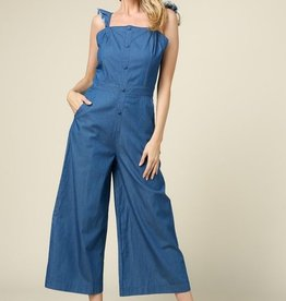 Turn Of Events Jumpsuit- Denim Blue