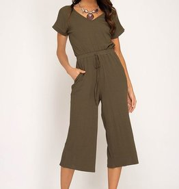 Lost In Love Jumpsuit - Olive