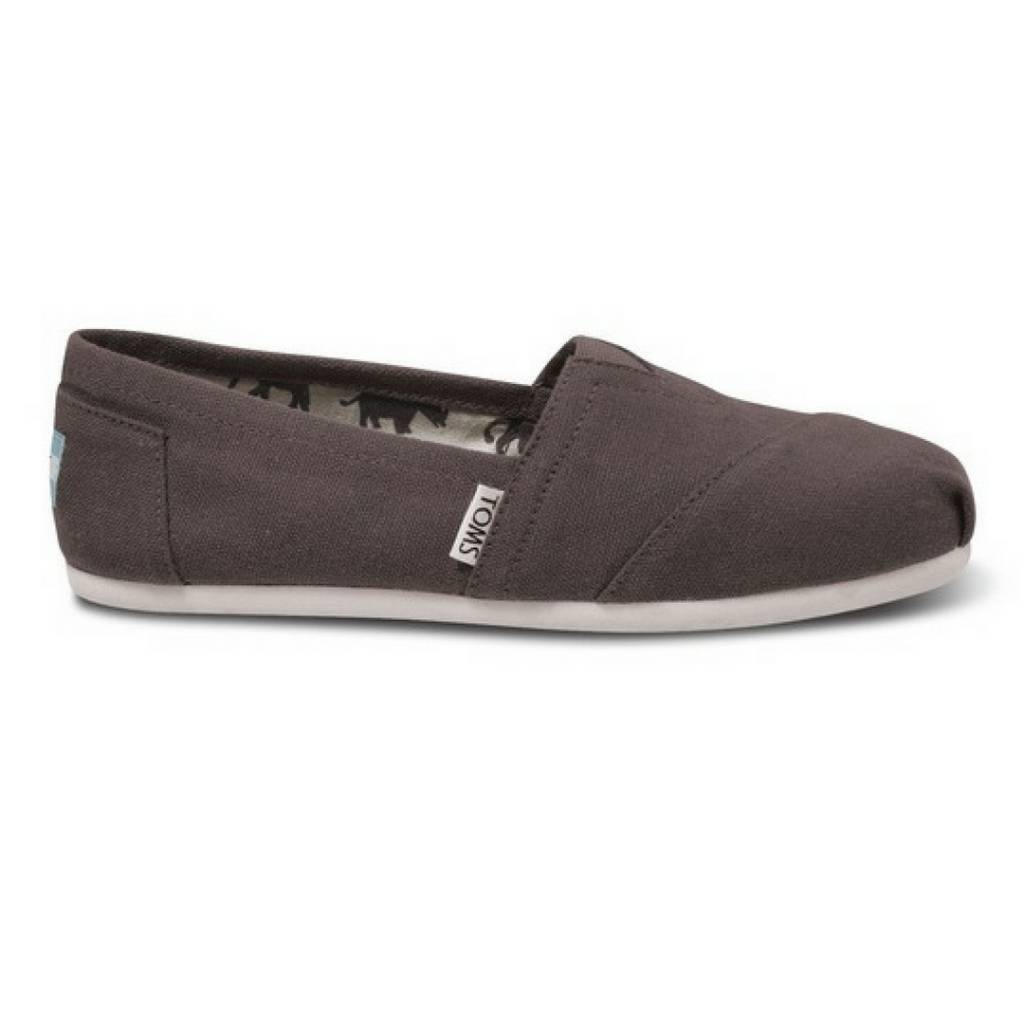 4f605a9f0c4 TOMS Classic Slip On ASH Grey Canvas - Cheeky Bliss