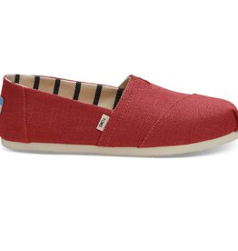 TOMS Classic Women Shoes - Apple Red Heritage Canvas