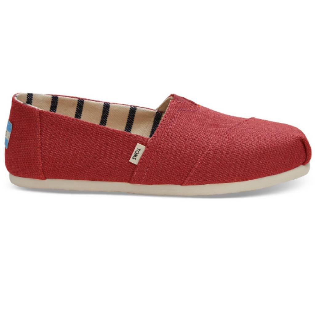 TOMS Classic Women Shoes - Apple Red Heritage Canvas - Cheeky Bliss 8120c67179a4