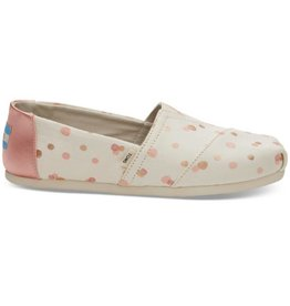 TOMS Classic Women Shoes - Pale Blush Metallic Party Dots