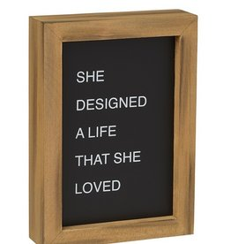 She Designed Letterboard Sign