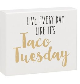 Taco Tuesday Box Sign