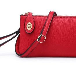 The Kendall Wristlet/Crossbody- Red