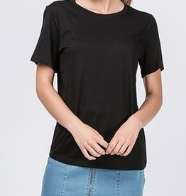 Just A Common Girl Top - Black