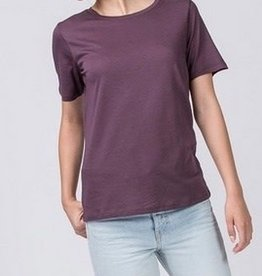 Just A Common Girl Top - Plum Brown