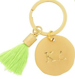 Round Tassel Keychain- Kappa Delta