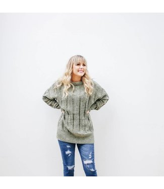 FALL RIBBED LONG SLEEVE SWEATER