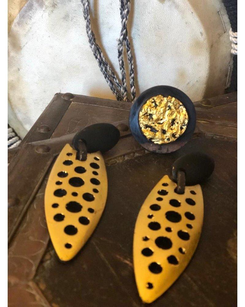 Domingo Isidore Wood Earrings
