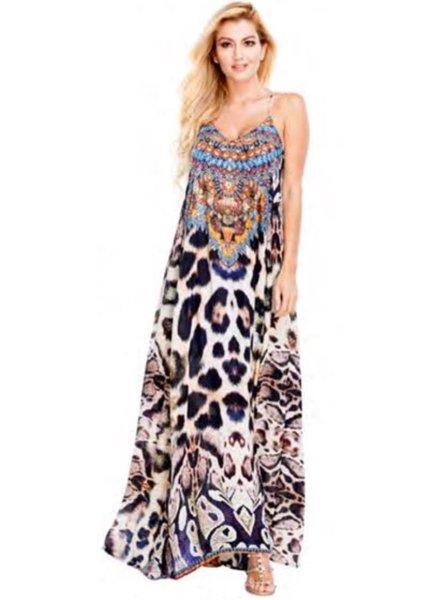 cheetah Glory T back Dress