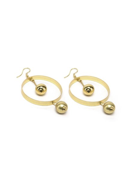 SPHERES IN HOOPS EARRINGS