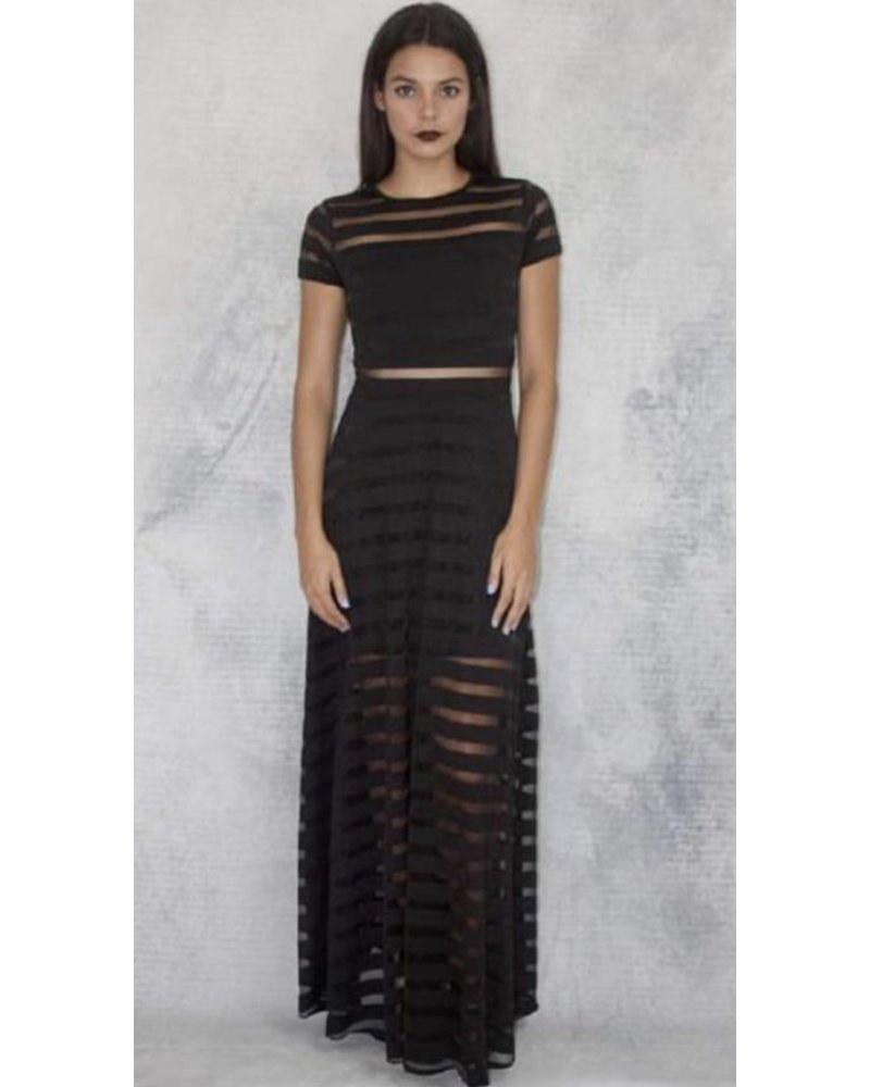 ainhoa mesh maxi dress