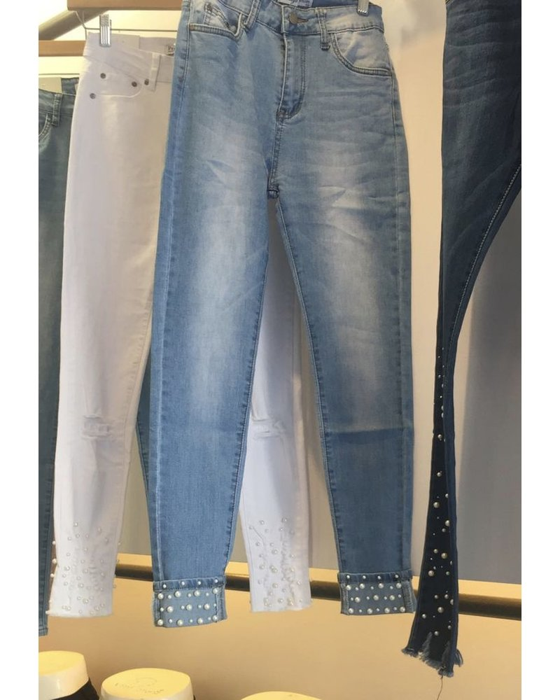 Boy friend Denim with Pearl